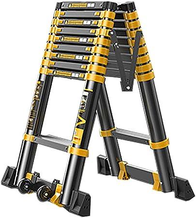 ZAQI Escalera Extensible Escalera telescópica Escalera Telescópica de Escaleras, Escalera de Extensión Plegable de Aluminio Multifunción Portátil de Aluminio Negro, Capacidad de 330 Libras: Amazon.es: Hogar