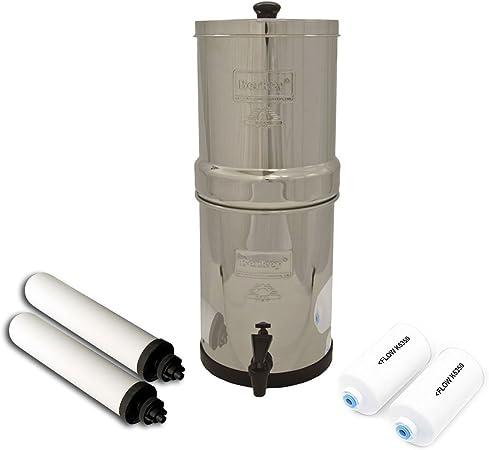 Berkey sistema de filtro de agua w/2 filtros de purificador negro (1,5 – 6 galones)