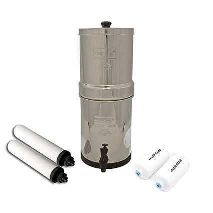 Travel Berkey Water Filter System w 2 White Ceramic Super Sterasyl