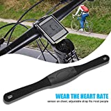Vbestlife Bike Wireless Computers Waterproof Bicycle Odemeter Speedometer Cycle Heart Rate Sensor with Large LCD Screen Backlight Display Multi-Functions Cycling Accessorry Kit