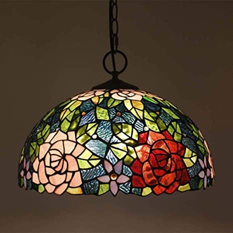 JUNJUNA Lámpara de Techo Tiffany, 16-Pulgadas vidrieras ...