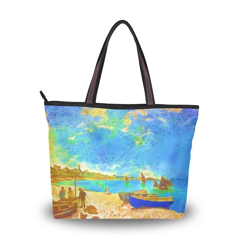 Women's New Fashion Handbag Shoulder Bags,Pretty Retro Scenery Oil Painting,Tote Bag
