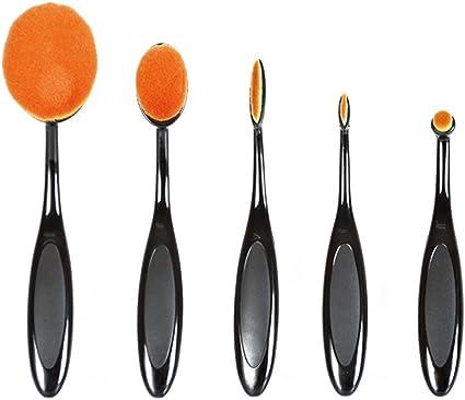 Bifull BROV Bifull Pack 5 - Brochas de maquillaje ovaladas CONTOURING | New makeup brush | Pelo antibacteriano extremadamente suave y absorbente, resultados profesionales del makeup: Amazon.es: Belleza