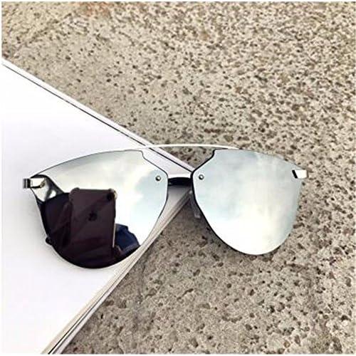 840b4e019d Lovely LXKMTYJ Retro Gafas De Sol Gafas De Sol De Bastidor Grande Sra.  Lente Espejo