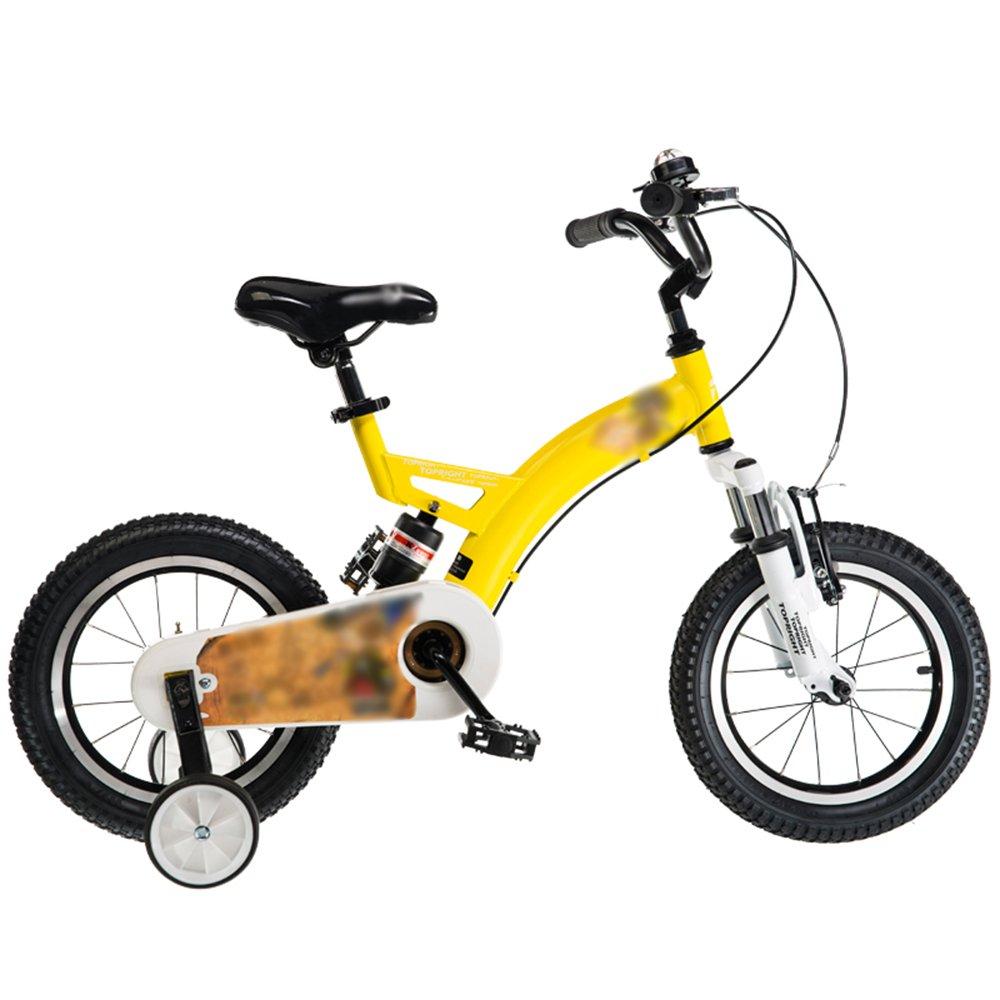 FEIFEI 子供用自転車12インチ14インチ16インチ18インチレッドブルーイエローハンドルバーシートの高さ調節可能安全で信頼性の高い ( 色 : イエロー いえろ゜ , サイズ さいず : 18 inch ) B07CRFZ3P9 18 inch|イエロー いえろ゜ イエロー いえろ゜ 18 inch
