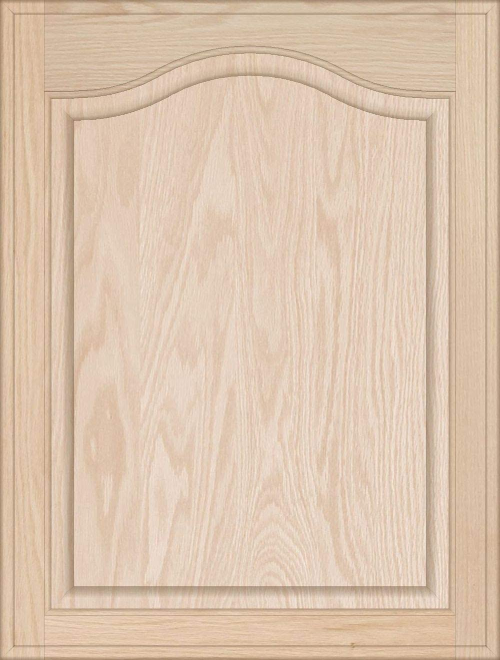 8H x 22W Unfinished Oak Flat Drawer Front with Edge Detail by Kendor