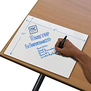 mcSquares Surfaces - Desktop Dry-Erase Board for Scratch Note Taking - 15in x 12in Rigid Whiteboard Pad Desk Accessory - Keep Your Thoughts Organized and Table top Free of Paper!