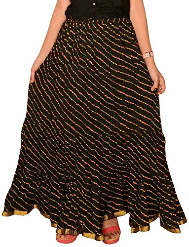 Regular Fit Women's rskt00028 Black Skirt Size Free Ethnic Cotton FwFqES