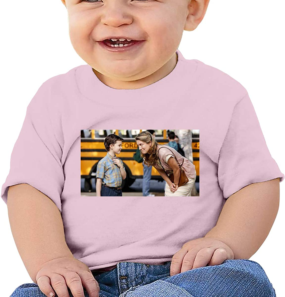 Honshang Young-Shel-Don Cute Black Tshirts for Baby Boy and Baby Girl Tee