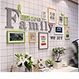 WUXK Minimalist modern style wooden hanging wall creative combination of continental photo wall,