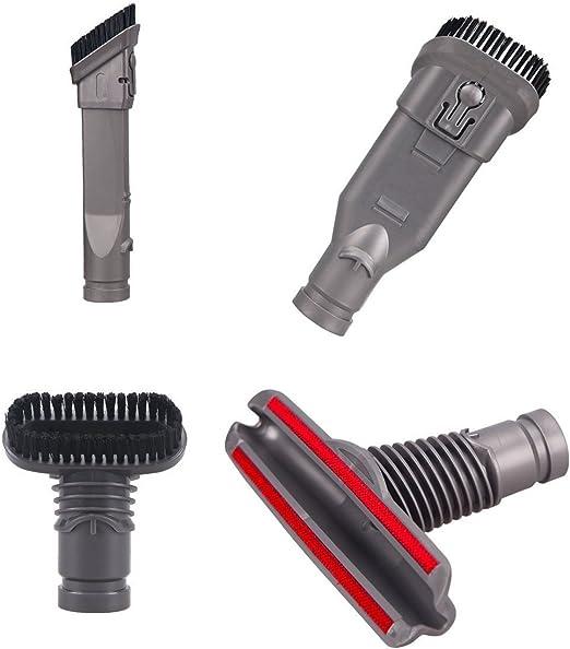 TeKeHom - Juego de 4 herramientas de limpieza para el hogar para aspiradoras Dyson V6 DC16 DC31 DC33 DC34 DC35 DC 56 DC58 DC59 DC61 DC62 DC72: Amazon.es: Hogar