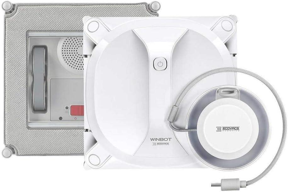 Ecovacs Winbot X 2020 WX Robot de Nettoyage de fen/être Blanc 74 d/écibels