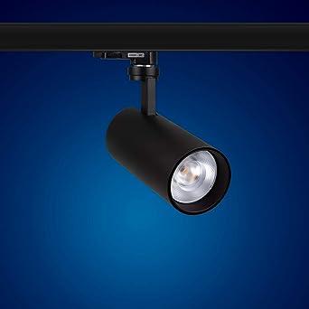 schwarz A+ 3 Phasen LED Strahler 20W für Stromschienen 2000 Lumen