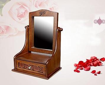 Make Up Spiegels : Waobe make up spiegel desktop spiegel großer spiegel aus holz