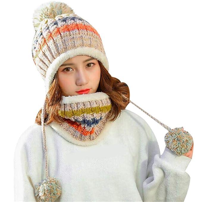 Ears Butterme Frauen Mädchen Winter Gestrickte Verdicken Loop Schal