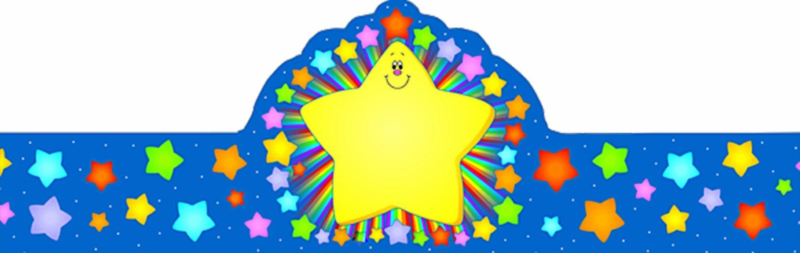 Carson Dellosa Rainbow Star Crowns (0234)