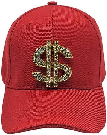 YYXXX Gorras béisbol Gorra de béisbol Hombre Signo de dólar con ...