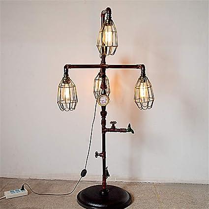 Lámpara de pie Retro Grifo Medidor de presión y diseño de ...