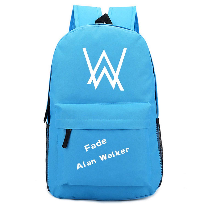 Ddong Ecole Adolescentes Sac à Dos Alan Walker Sacs Scolaires Cartables pour Garçon et Filles Loisir Daypack Backpack de Randonnée Voyage