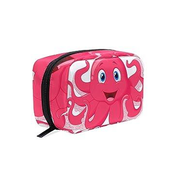 8c142bdd2d64 Amazon.com : LORVIES Cute Octopus Cartoon Cosmetic Pouch Clutch ...