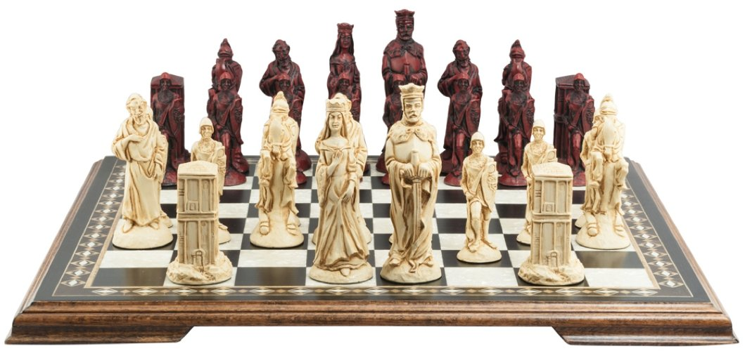 人気激安 King Arthur and – Camelotテーマチェスセット – – Arthur 5.5インチ – でプレゼンテーションボックス – ハンドメイドin UK – アイボリーand Burgundy B01M9D8675, かばんのお店 Re:Lotta-リロッタ-:3bf04d04 --- cygne.mdxdemo.com