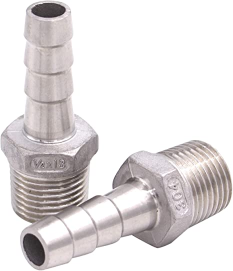 """Pack of 4 1/"""" Hose Barb x 1//2/"""" Male NPT"""