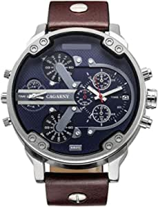 Cagarny Casual Watch For Men Analog PU Leather - 6820