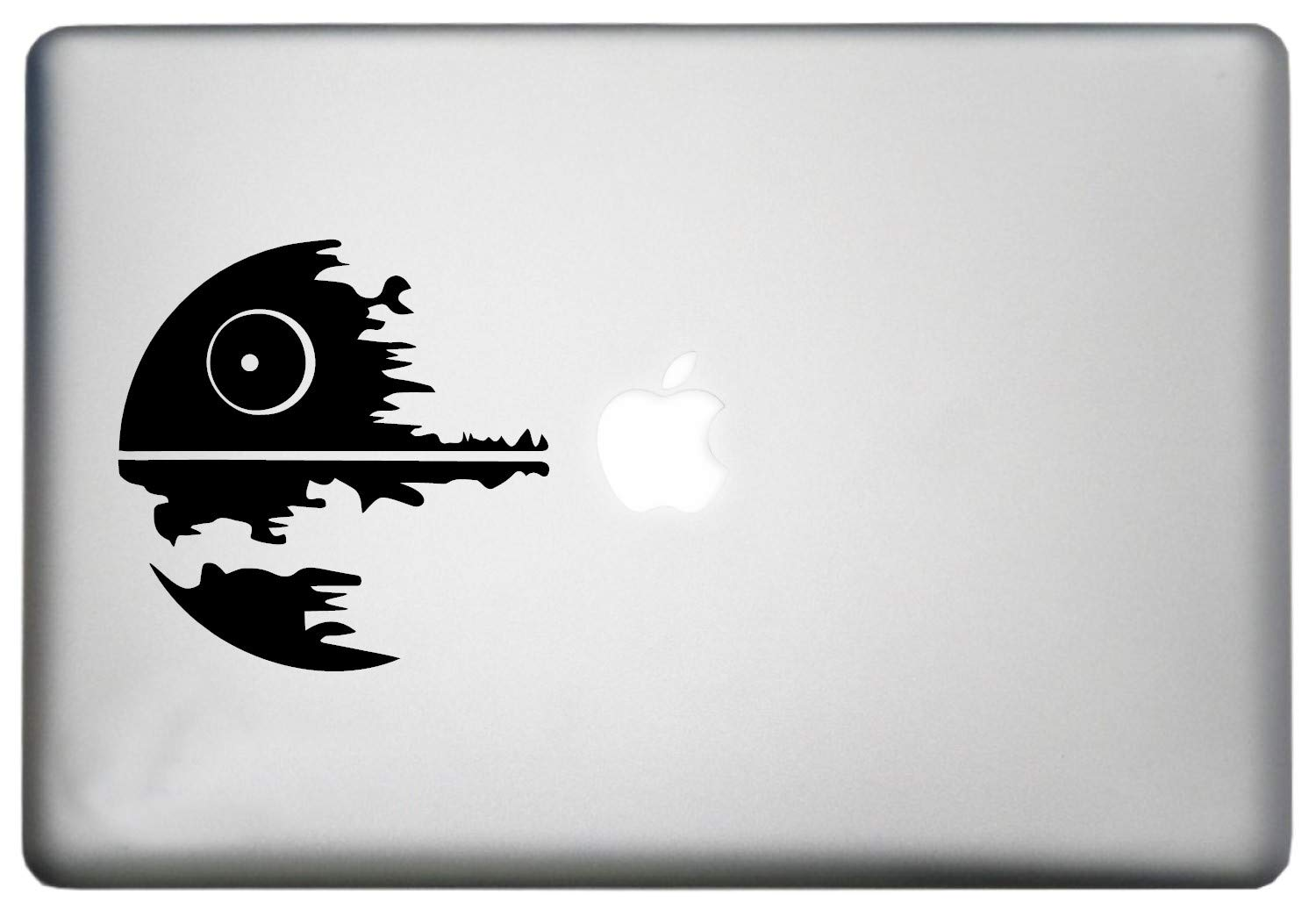 Death star wars macbook decal sticker is a death star print art vinyl decal laptop sizes 11 12 13 and 15 inch also looks good with death star poster