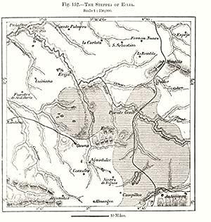 Antiqua Print Gallery The Steppes of Ecija. España. Mapa de Dibujo 1885 - Mapa Antiguo - Mapa Antiguo - Mapa Vintage - Mapas Impresos de España: Amazon.es: Hogar