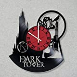 Cheap Vinyl Record Wall Clock The Dark Tower Stephen King the Man in Black Gunslingers decor gift ideas for friends him her boys girls World Art Design