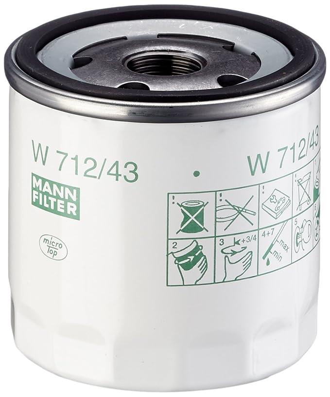 Mann Filter W 712/43 Filtro de Aceite: Amazon.es: Coche y moto