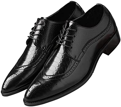 mens black wingtip dress shoes