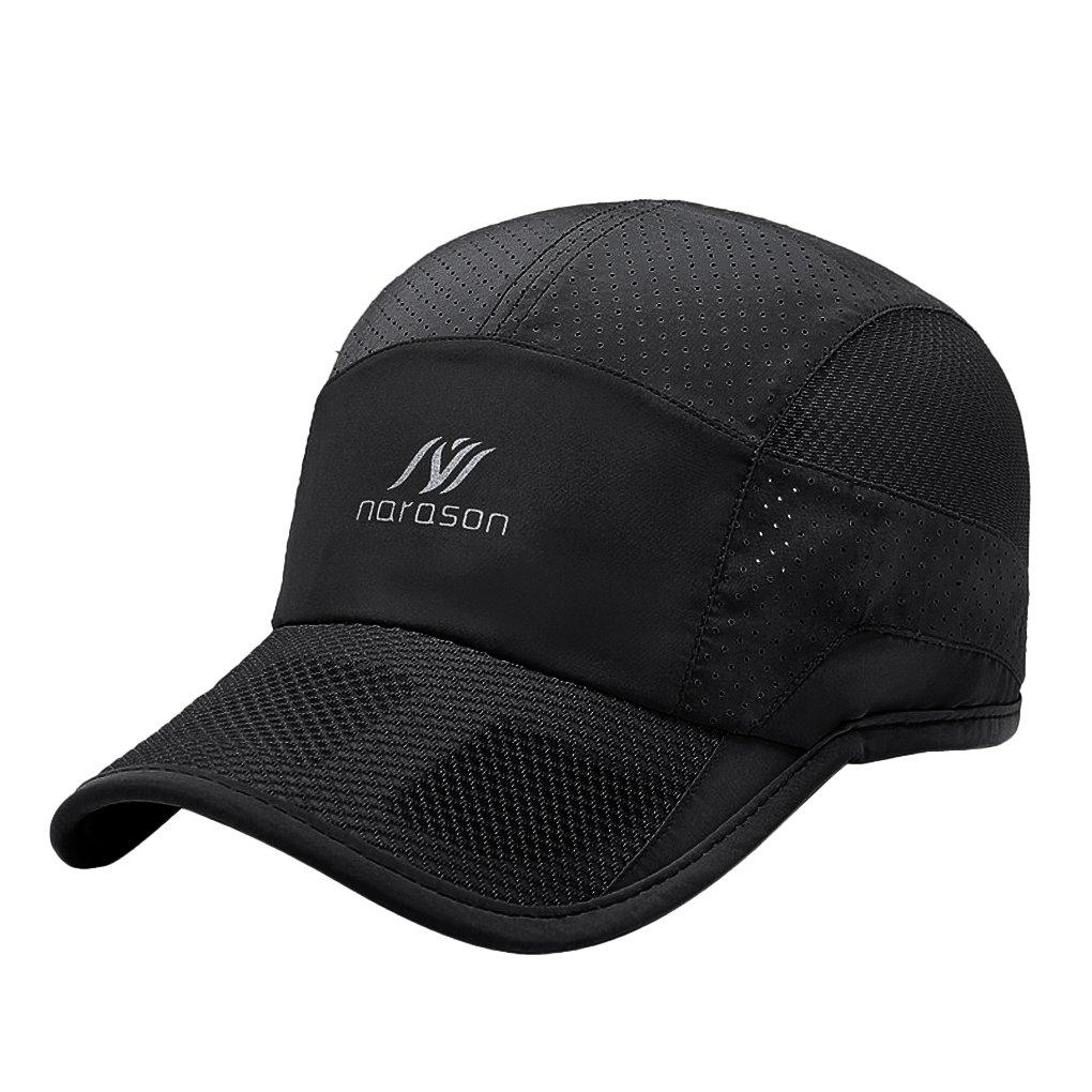 59723fdadd9728 JIAHG Unisex Summer Mesh Baseball Cap Outdoor Sport Breathable Mesh Golf  Tennis Beach Hat Summer Cool Ventilation Quick Dry Sun Protection Hat  Adjustable ...