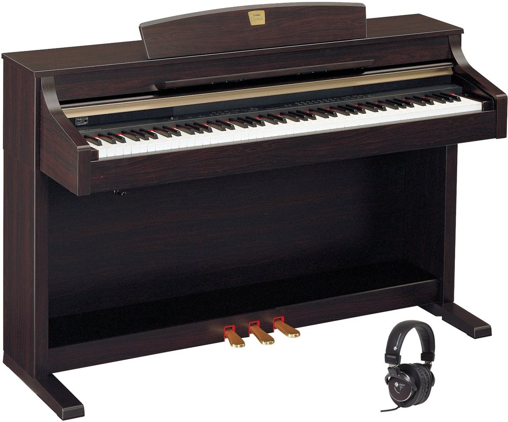 YAMAHA CLAVINOVA CLP 340 + HEADPHONE - Piano digital: Amazon ...