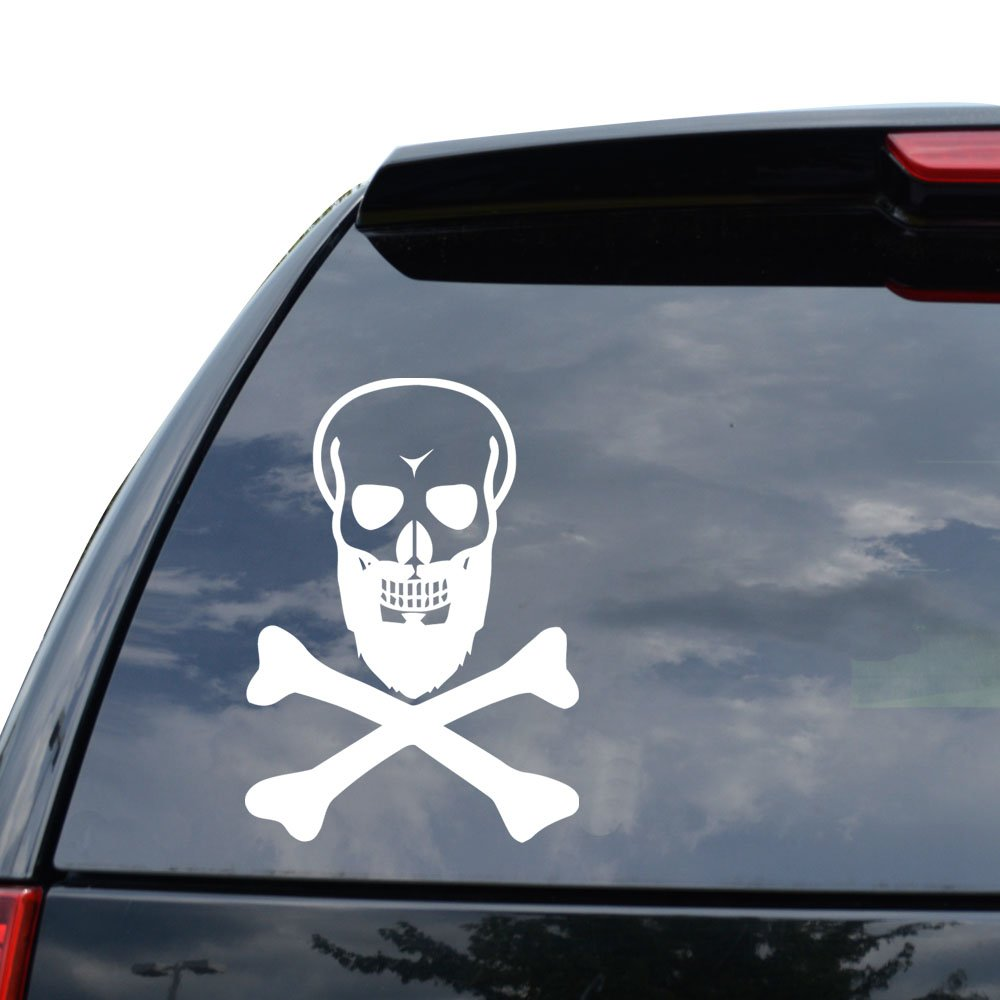 Amazon com death skull black beard decal sticker car truck motorcycle window ipad laptop wall decor size 22 inch 56 cm tall color gloss red arts