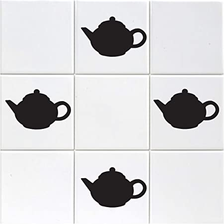 ZygoMax Teapot Tile Stickers Pack of 18 Teapot Stickers