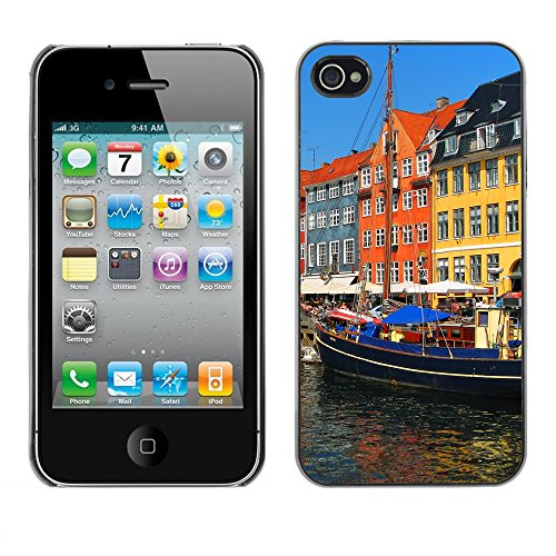 Premio Sottile Slim Cassa Custodia Case Cover Shell // V00002824 Copenhague Nyhavn // Apple iPhone 4 4S 4G