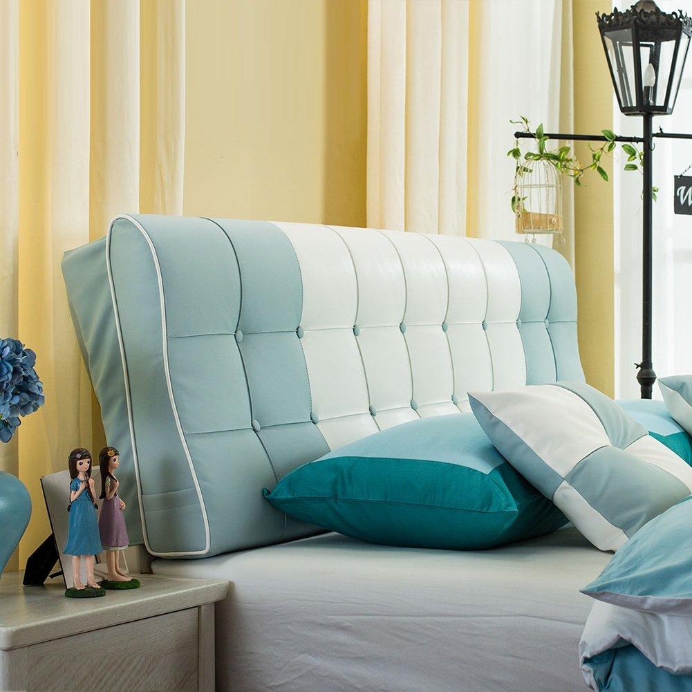 HAIPENG クッション ベッドの背もたれ クッション ヘッドボード ベッド バックレスト ベッドサイド カバー 大 布張り 腰椎 パッド ソファー 柔らかい 快適、 6色、 マルチサイズ (色 : ブルーグレー, サイズ さいず : 180x12x58cm) B07F5H8NHH 180x12x58cm ブルーグレー ブルーグレー 180x12x58cm