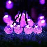 OxyLED Solar 30 LED Garden Patio Outside Waterproof Indoor/Outdoor String (Purple Light)