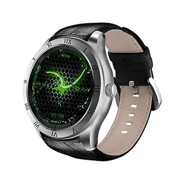 DI05 Smart Watch WiFi GPS MTK6580 Bluetooth 4.0 512MB + 8GB Soporte 3G Nano SIM Card 1.39 Pulgadas AMOLED Smart Watch PK K88H, Silver: Amazon.es: Deportes y ...