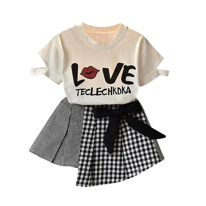 Amazon.com: lurryly 2018 2pcs bebés, niñas, niños verano ...