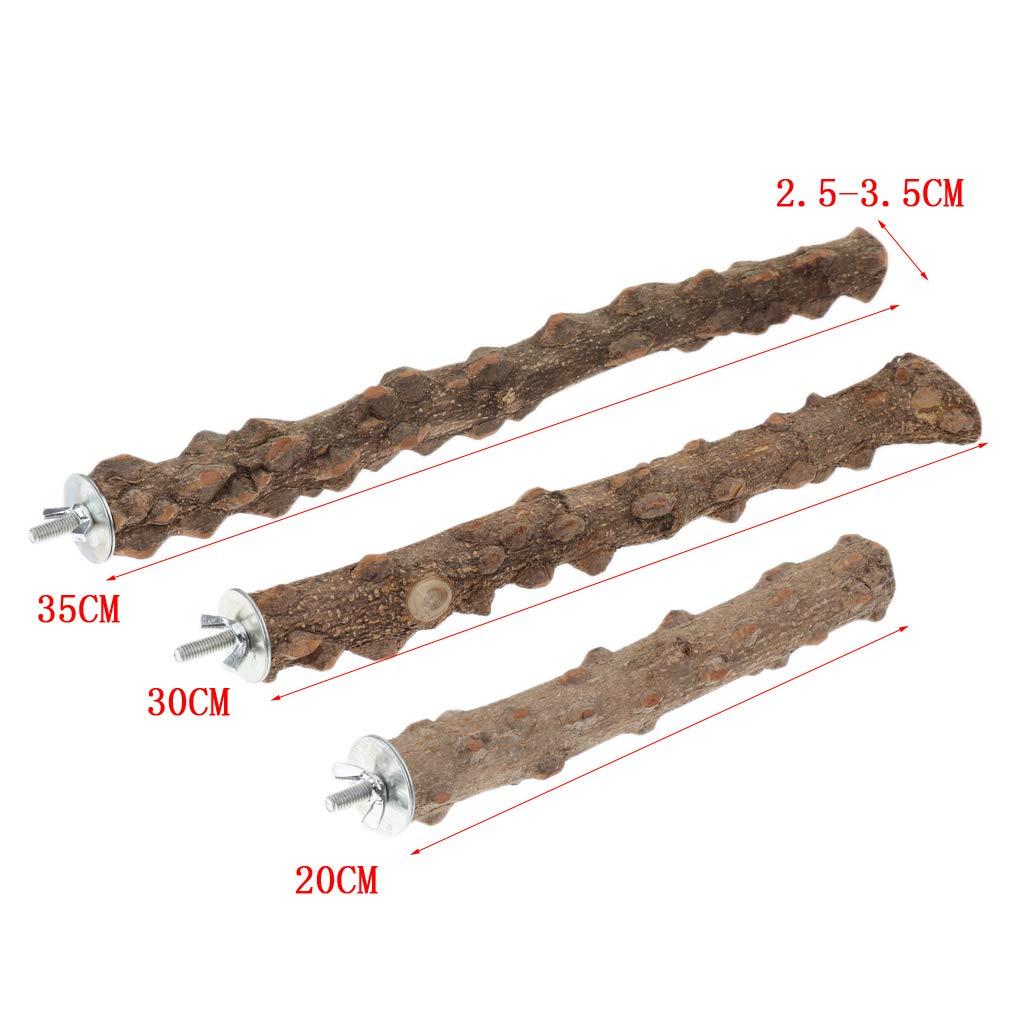 L Fenteer No T/óxico Jaulas De P/ájaros Prickly Ash Perca De Madera para P/ájaros Soporte De Juguetes S
