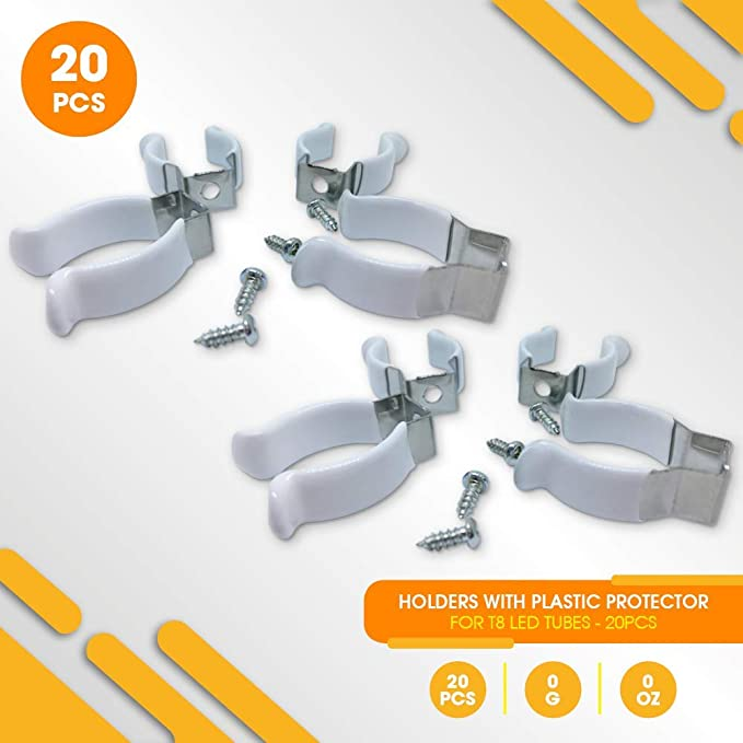 Strap Clamps Tools Home Improvement Demasled Holder For T8 Led Tube Light Mounting Bracket To Hang 10 Tubes 20 Units Ceiling Wall
