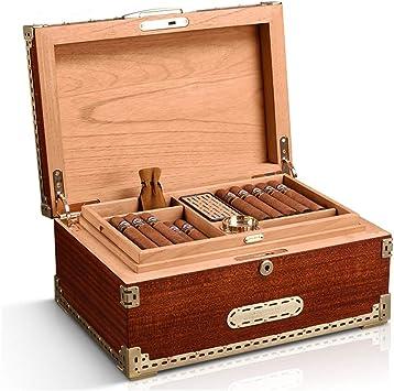 Caja de puros Humidificador Caja de puros de almacenamiento y mantenimiento Caja de puros de alta capacidad Gabinete de puros de doble zona Caja de humidificadores de humidificación: Amazon.es: Salud y cuidado