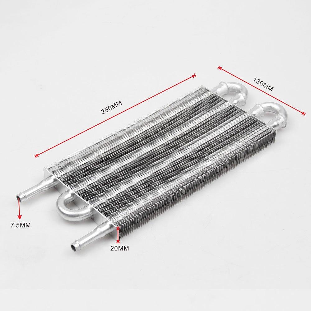 Hylotele TOC003 Aluminium T/él/écommande Syst/ème de Refroidisseur huile De Voiture Condenseur /À Air Climatisation Radiateur Convertisseur Accessoires
