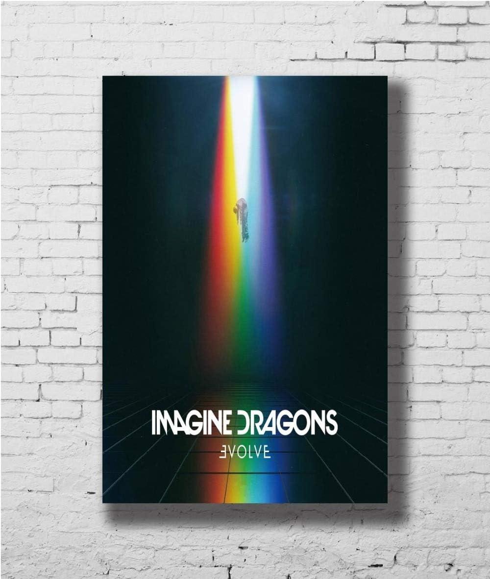 : 8x12 inches Size Zamtac Imagine Dragons Album Music Wall Sticker Home Decoration Silk Art Poster - Inch