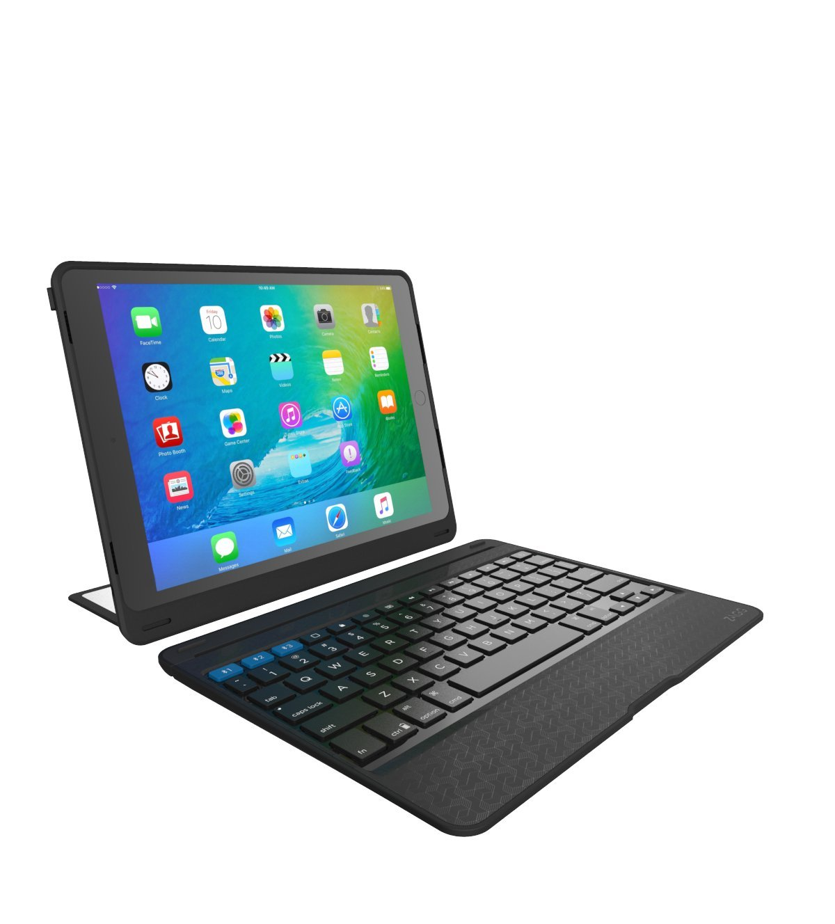 ZAGG Rugged Book Pro | Magnetic-Hinged | Multi Pairing | Durable stand Case & Detachable Wireless Backlit Keyboard | for Apple iPad PRO 9.7-inch [4th Gen 2016] & iPad Air 2 | - Black