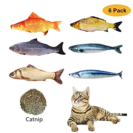 Catnip <b>Toys</b> Set <b>Simulation Fish</b> Shape Doll Interactive <b>Pets</b> Pillow ...