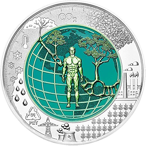 2018 AT Niobium PowerCoin ANTHROPOCENE Bimetallic Silver Coin 25€ Euro Austria 2018 BU Brilliant Uncirculated