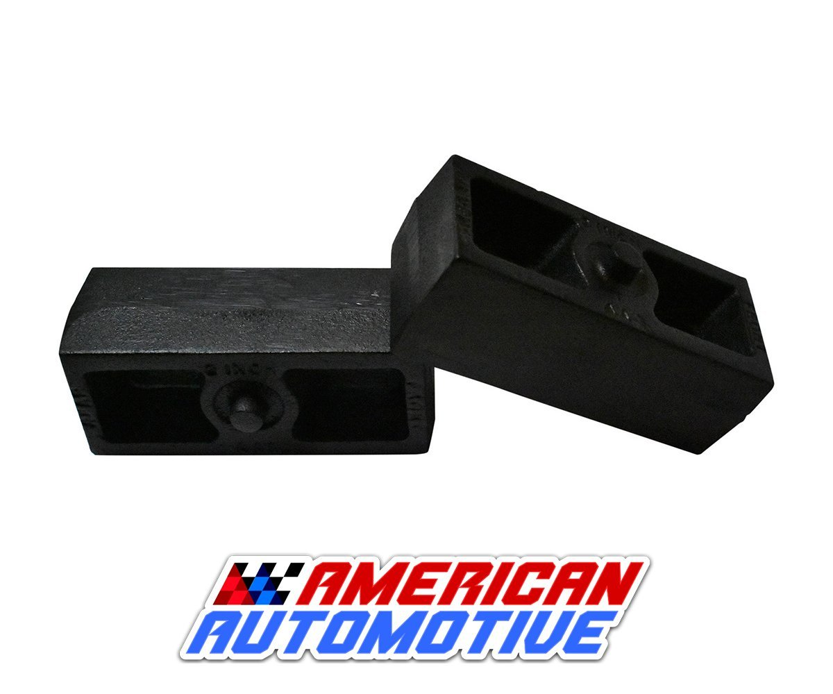 2000-2010 Silverado 2500HD Lift Kit 2\' Rear Solid American Steel Lift Blocks American Automotive